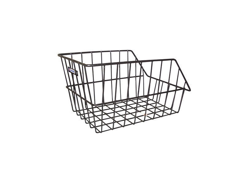 Adie Large Wire Rear Basket in Black click to zoom image