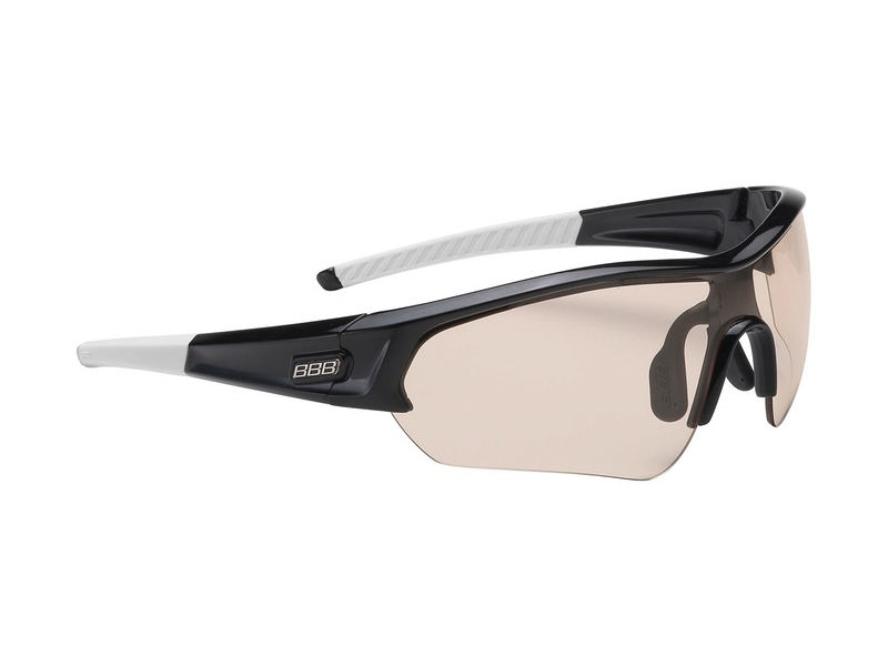 BBB Select PH Sport Glasses Black, White Tip, PH Lens click to zoom image