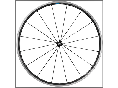 Shimano WH-RS300 clincher wheel, 100 mm Q/R axle, front, black