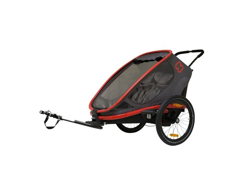Hamax Outback Reclining Trailer Red/Charcoal click to zoom image